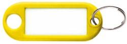 Sleutellabel kunststof geel