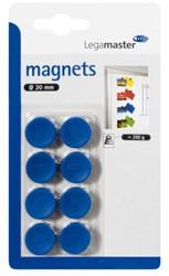 Magneet Legamaster 20mm 250gr blauw 8stuks