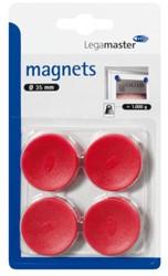 Magneet Legamaster 35mm 1000gr rood 4stuks