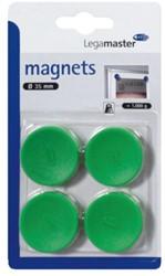 Magneet Legamaster 35mm 1000gr groen 4stuks
