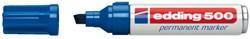 Viltstift edding 500 schuin blauw 2-7mm