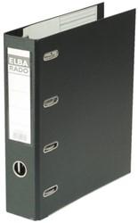 Ordner Elba Rado plast 75mm bank 2mechanieken zwart PVC