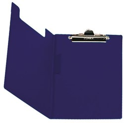 Klemmap Bantex met klem + penlus donkerblauw