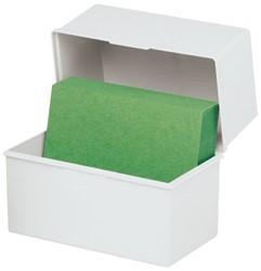 Kaartenbak Exacompta A6 klein kunststof grijs