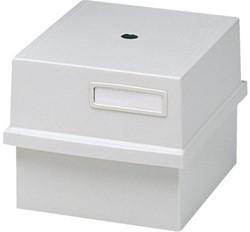 Kaartenbak Exacompta A6 143x176x240mm kort kunststof grijs