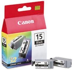 Inkcartridge Canon BCI-15 zwart 2x