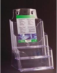 Folderhouder Sigel LH132 3XA5 staand transparant