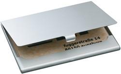 Visitekaartenhouder Sigel VZ136 duo mat zilver