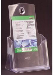 Folderhouder Sigel LH113 1x1/3 staand transparant