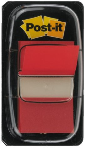 Indextabs 3M Post-it 680 25.4x43.2mm rood