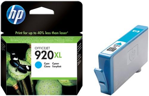Inktcartridge HP CD972AE 920XL blauw HC