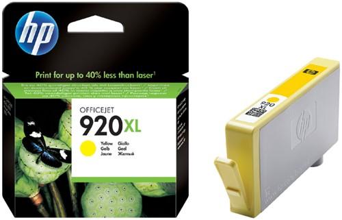 Inktcartridge HP CD974AE 920XL geel HC