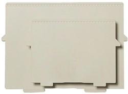 Scheidingsplaat kaartenbak Exacompta A6 dwars grijs