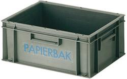 Papierbak verzamelbak kunststof 40x30x17.5cm grijs