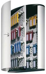 Sleutelkast Durable 54haken 302x280x118mm aluminium