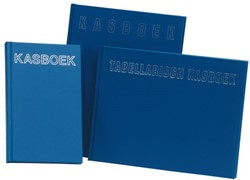 Kasboek 165x210mm 192blz 2 kolommen blauw